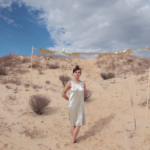 "LOMA's Emily Cross has fun in the desert on the ""Relay Runner"" video"