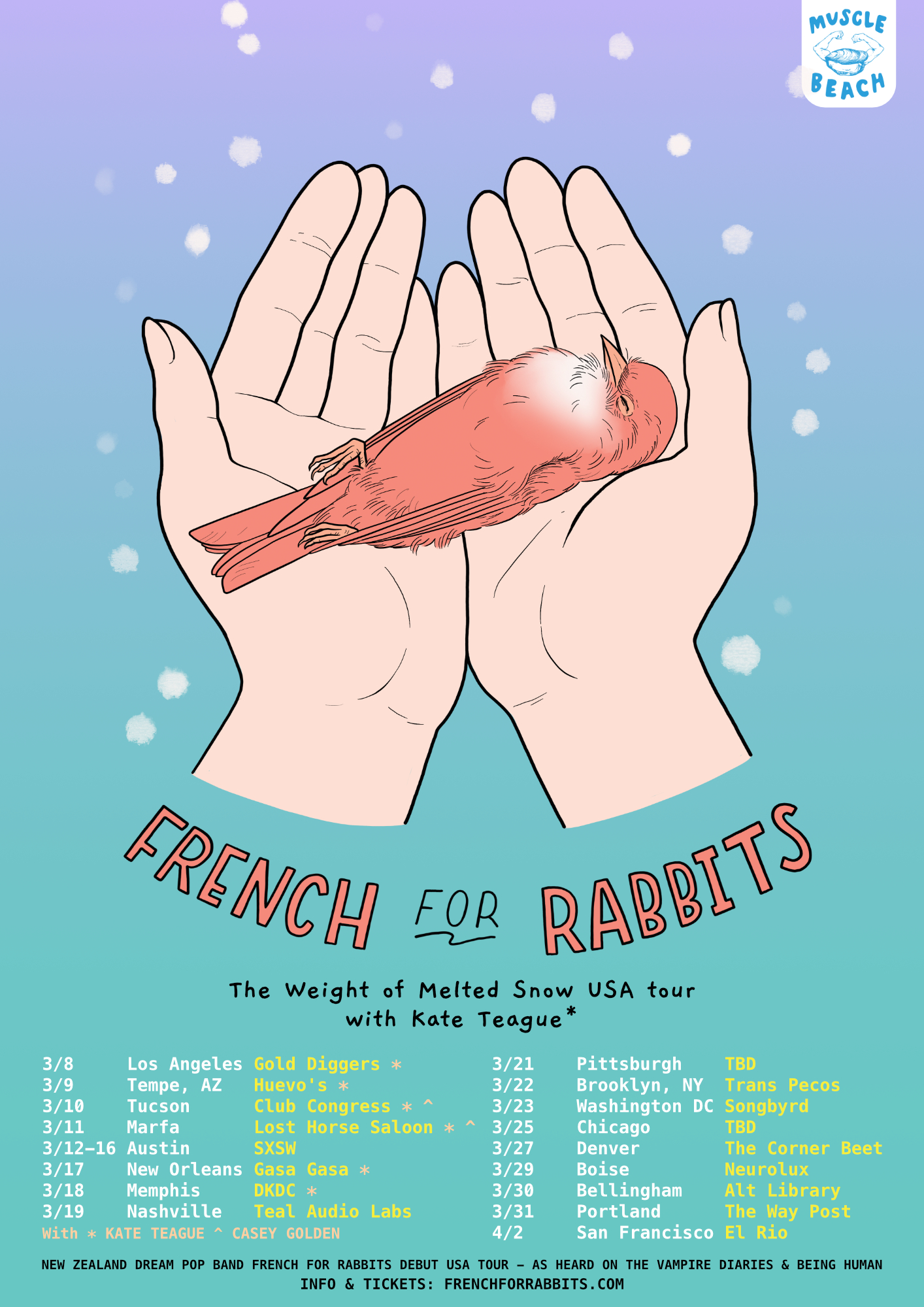 French For Rabbits Kate Teague tour 2019